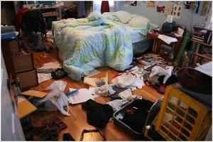 Picture of a cluttered room