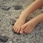 Bare feet in sand